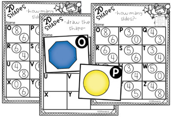 2D Shapes Math Task Card Game