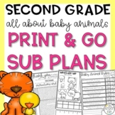 Second Grade Sub Plans March Spring Baby Animals
