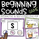 Beginning Sounds DIGITAL Assessment Game