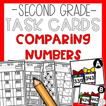 Comparing 3-Digit Numbers Math Task Cards