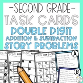 Double Digit Story Problem Task Cards