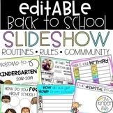 EDITABLE Back to School Slideshow K-2