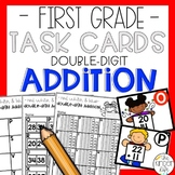 Double Digit Addition Math Task Cards