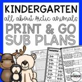 Kindergarten Arctic Animals Sub Plans