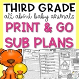 March Baby Animals Third Grade Sub Plans