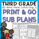 Martin Luther King Jr Third Grade Emergency Sub Plans