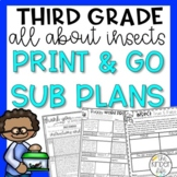 May Third Grade Insects Emergency Sub Plans
