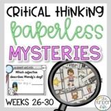 PAPERLESS Problem Solving Mysteries Weeks 26-30 Landforms CvCe Words