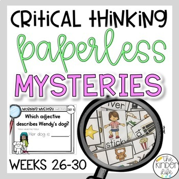 PAPERLESS Problem Solving Mysteries Weeks 26-30 Landforms CvCe Words