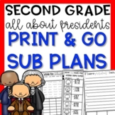 Presidents Second Grade February Emergency Sub Plans