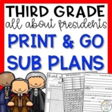 Presidents Third Grade Emergency Sub Plans
