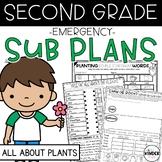 Second Grade April Plants Emergency Sub Plans