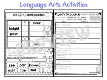 February Second Grade Emergency Sub Plans