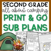 Second Grade June Emergency Sub Plans Camping