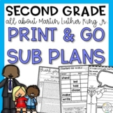 Second Grade Martin Luther King Jr. Sub Plans