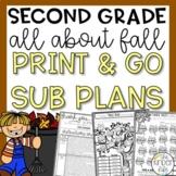 Second Grade November Fall Emergency Sub Plans