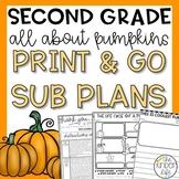Second Grade November Pumpkins Emergency Sub Plans