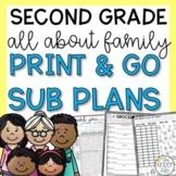 Second Grade September Emergency Sub Plans Family