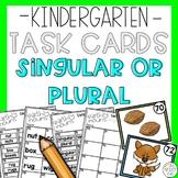 Singular Plural Nouns Reading Task Card Game