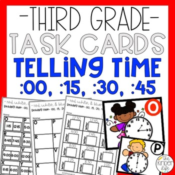 Telling Time 15 Minute Intervals Task Cards