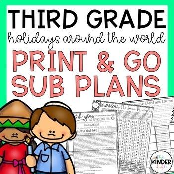 Third Grade Holidays Around the World Sub Plans