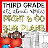 Third Grade Sub Plans September Apples