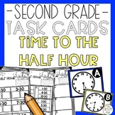 Time to the Half Hour Math Task Card Game