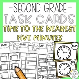 Time to the Nearest Five Minutes Task Cards
