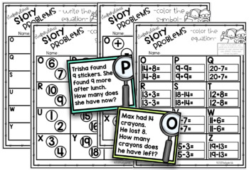 Word Problems Math Task Cards