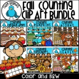 Fall Counting Clip Art Bundle