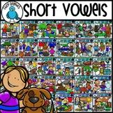 Short Vowels Word Families Clip Art Bundle - Chirp Graphics