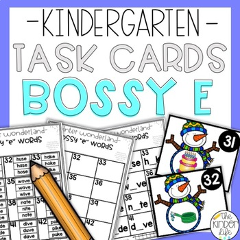 Bossy E Task Cards {Winter Theme}