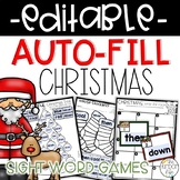 EDITABLE Christmas Sight Word Games Auto-Fill