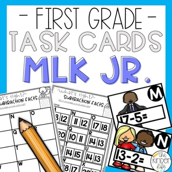 First Grade Task Cards Subtraction Facts to 20