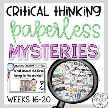 PAPERLESS Problem Solving Mysteries Weeks 16-20 CVC Words