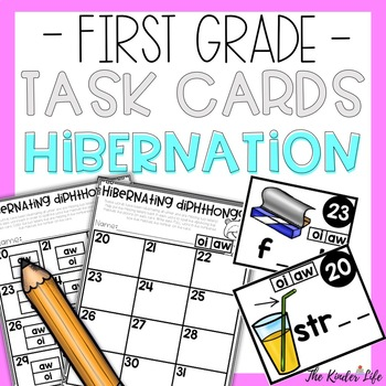 First Grade Reading and Writing Task Cards Diphthongs
