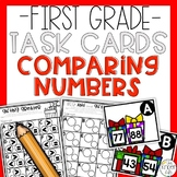 Comparing Numbers Task Cards Holiday Edition