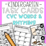 CVC Rhyming Words Task Cards