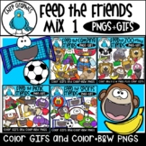 Feed the Friends Mix 1 PNG and GIF Bundle