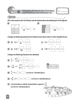 (6A) 6 Changing Decimals into Fractions and Fractions into