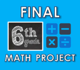 *6TH GRADE MATH - END OF YEAR PROJECT* (EDITABLE!)