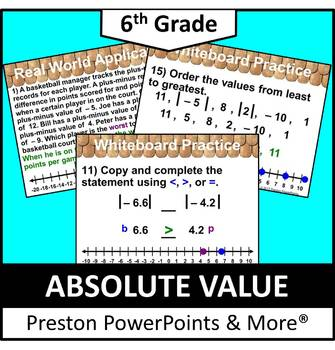 (6th) Absolute Value in a PowerPoint Presentation