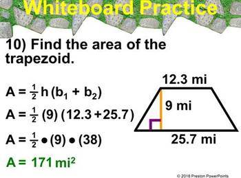 (6th) Area of Trapezoids and Area of Composite Figures PowerPoint Presentation