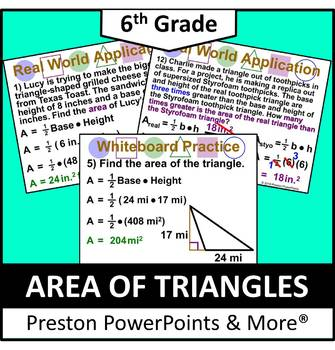 (6th) Area of Triangles in a PowerPoint Presentation
