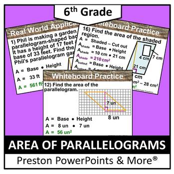 (6th) Area of a Parallelogram in a PowerPoint Presentation