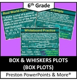 (6th) Box and Whisker Plot (Box Plot) in a PowerPoint Presentation