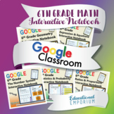 6th Grade Google Classroom Math Interactive Notebook, Digi