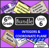 (6th) Integers and the Coordintate Plane {Bundle} in a PowerPoint Presentation