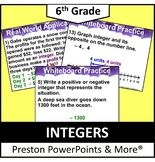(6th) Integers in a PowerPoint Presentation