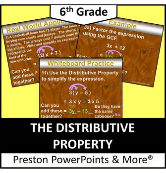(6th) The Distributive Property in a PowerPoint Presentation